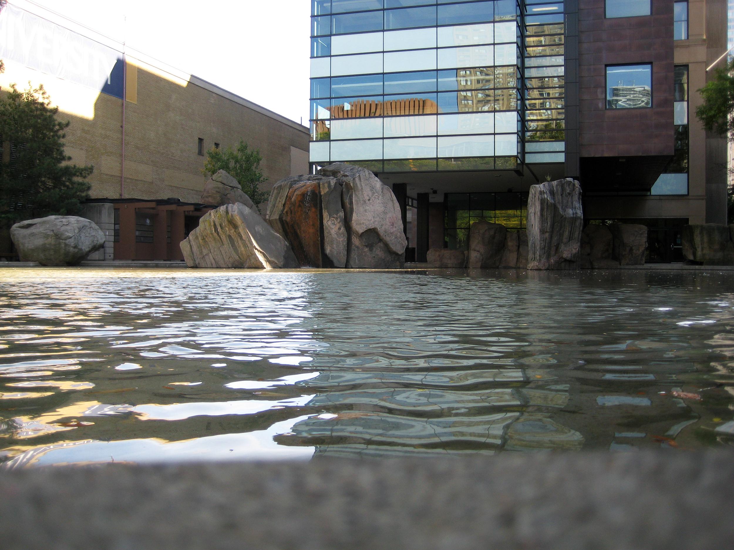 Lake Devo at Ryerson University in Toronto pictured on Aug. 21, 2008. (Steve Silva)