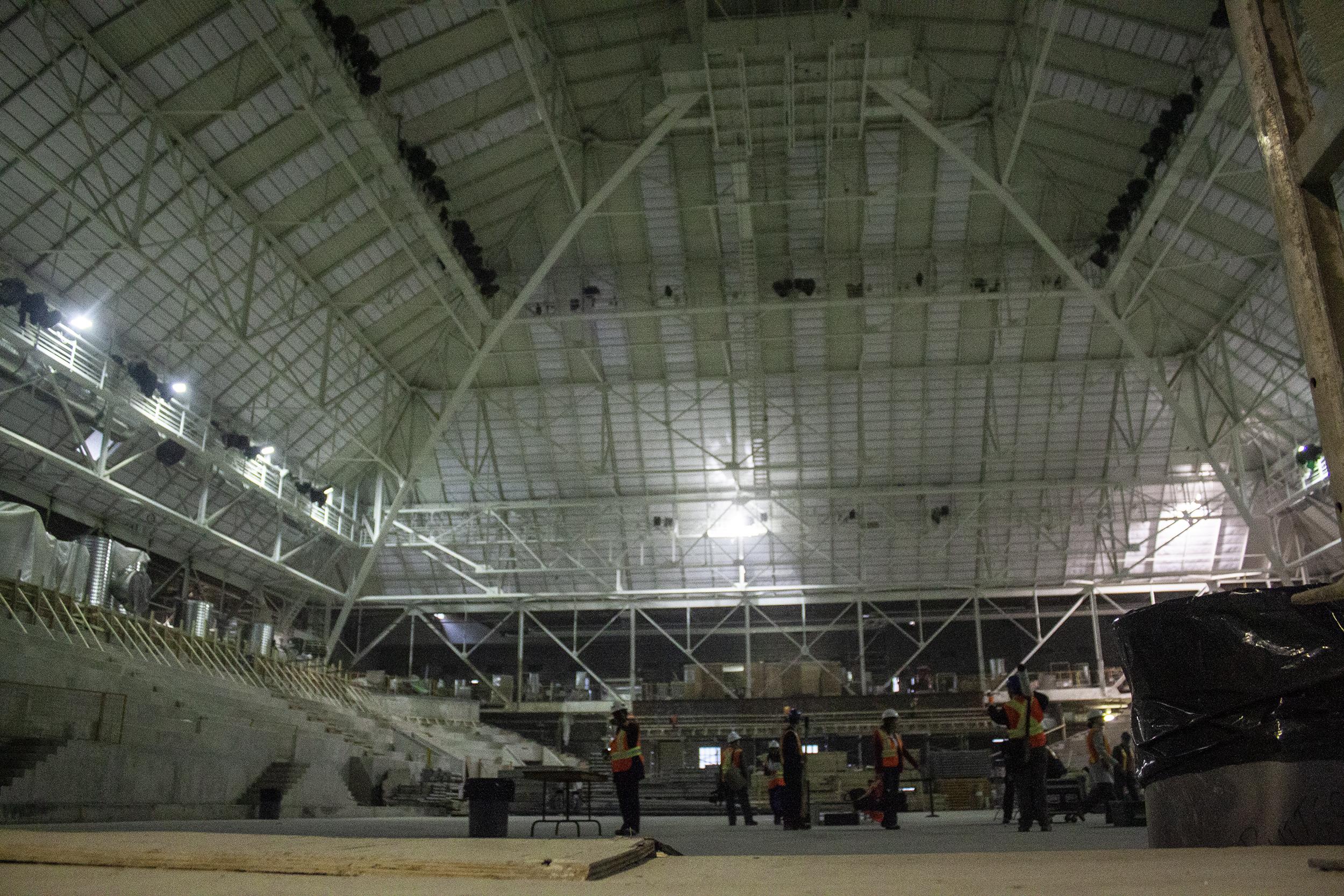 Ryerson University's Mattamy Athletic Centre under renovations pictured on Nov. 29, 2011. (Steve Silva)