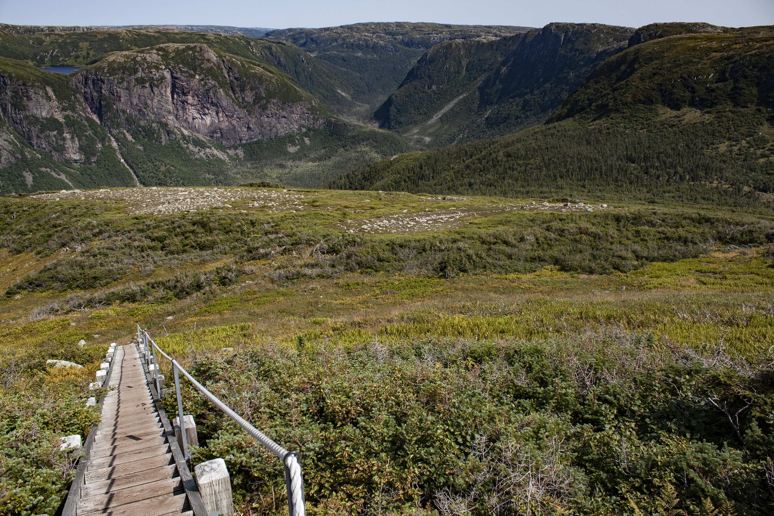 The downhill portion of the trail past the summit at Gros Morne Mountain, pictured on Aug. 31, 2017. (Steve Silva)