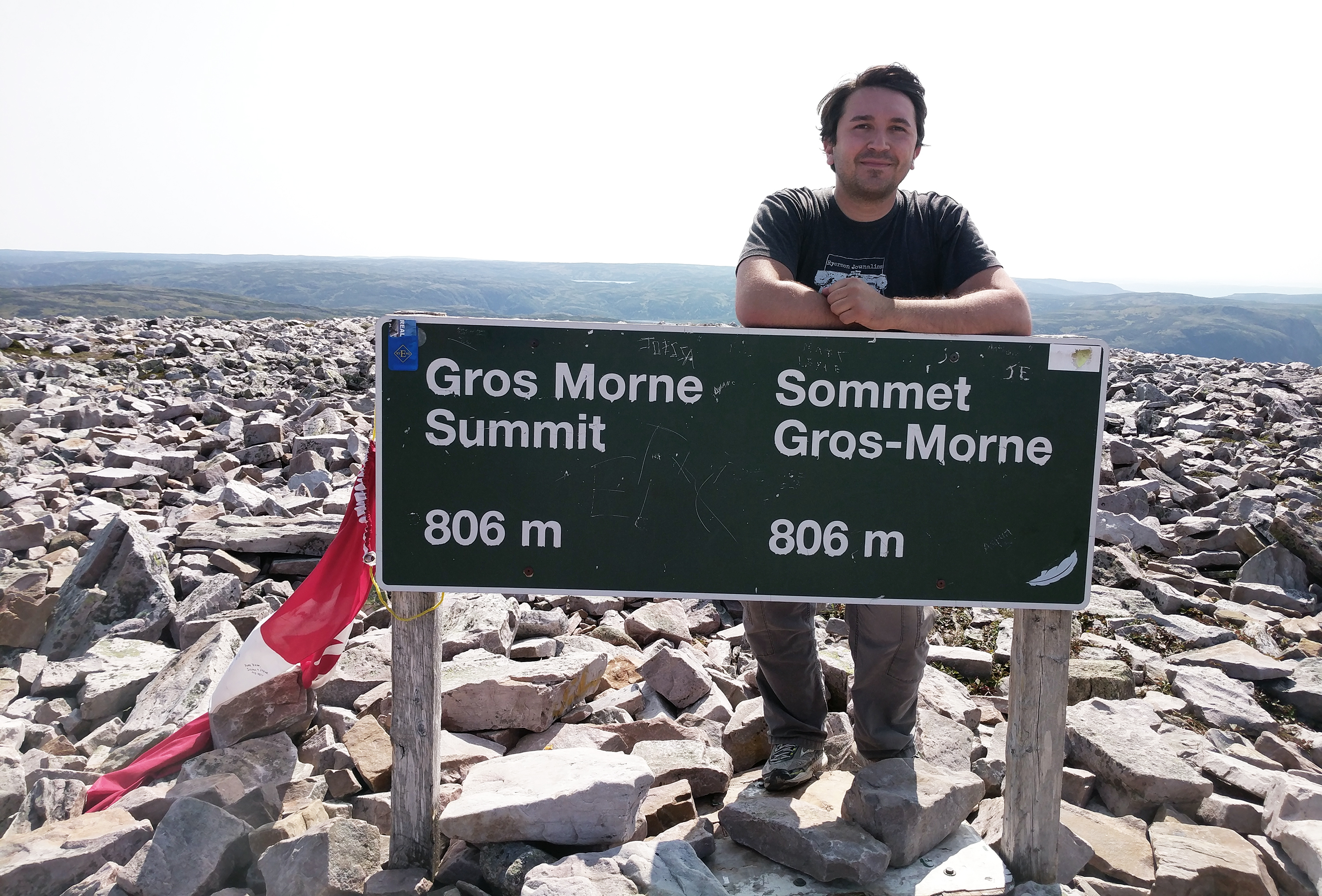 Steve Silva at the summit of Gros Morne Mountain, pictured on Aug. 31, 2017. (Steve Silva)
