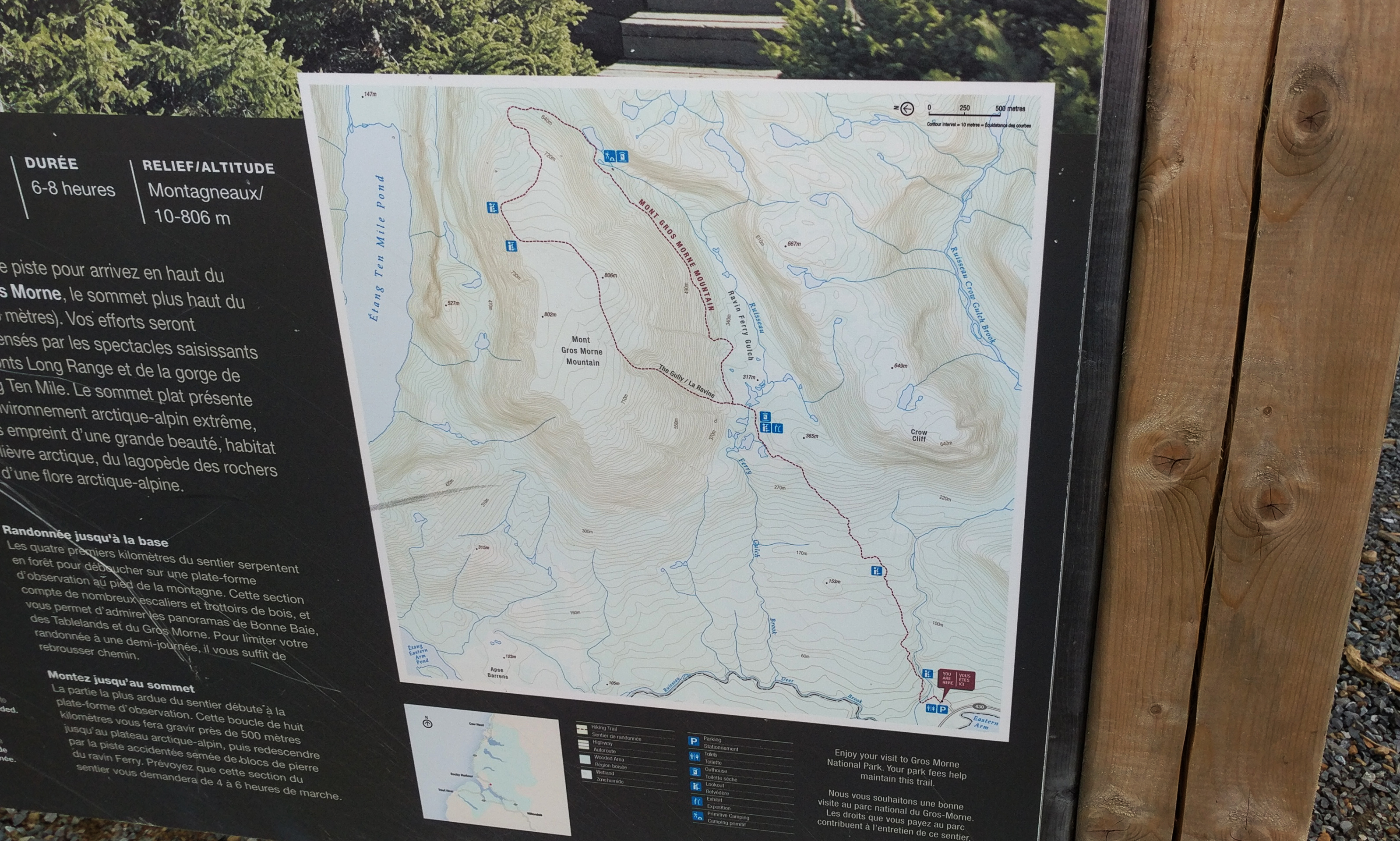 A map located at the beginning of the trail at Gros Morne Mountain, pictured on Aug. 31, 2017.
