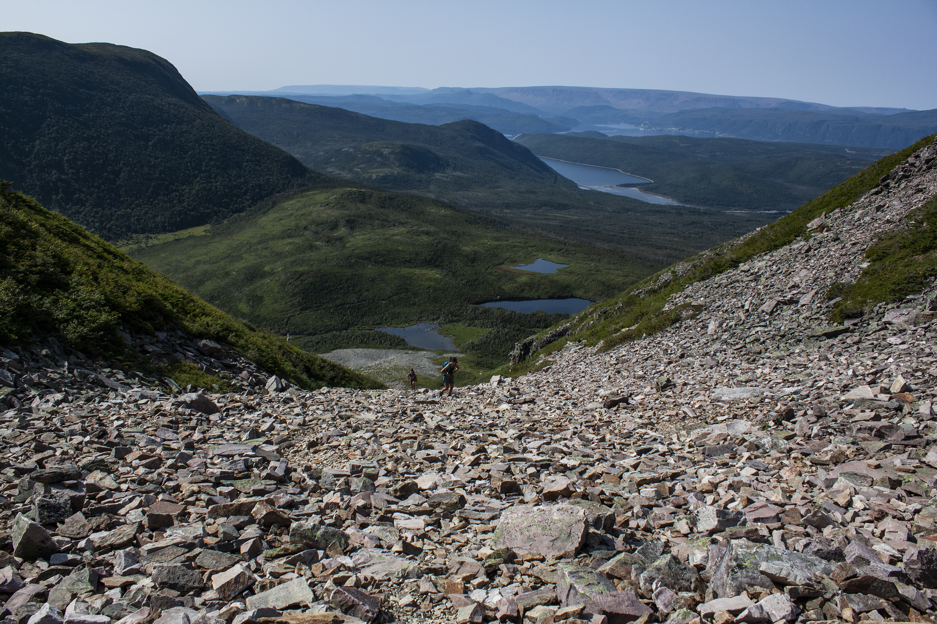 The view from Gros Morne Mountain's gully, pictured on Aug. 31, 2017. (Steve Silva)
